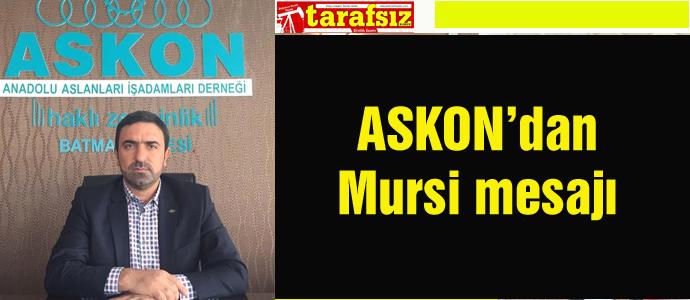 ASKON'dan Mursi mesajı