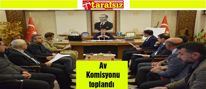 Av Komisyonu toplandı