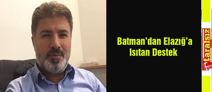 Batman'dan Elazığ'a Isıtan Destek
