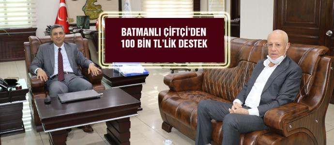 BATMANLI ÇİFTÇİ'DEN 100 BİN TL'LİK DESTEK