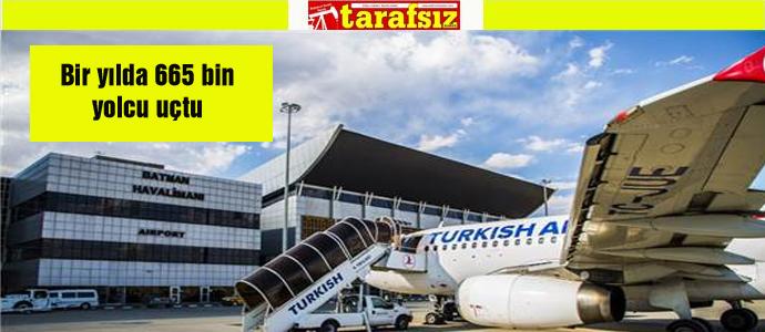 Bir yılda 665 bin yolcu uçtu