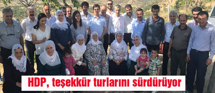 HDP, teşekkür turlarını sürdürüyor