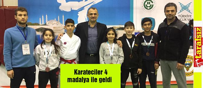 Karateciler 4 madalya ile geldi