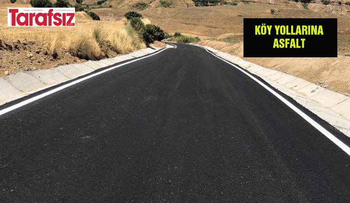 Köy yollarına asfalt