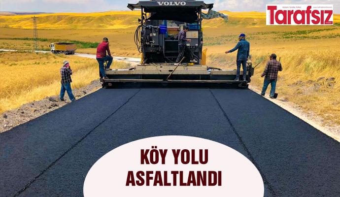 Köy yolu asfaltlandı