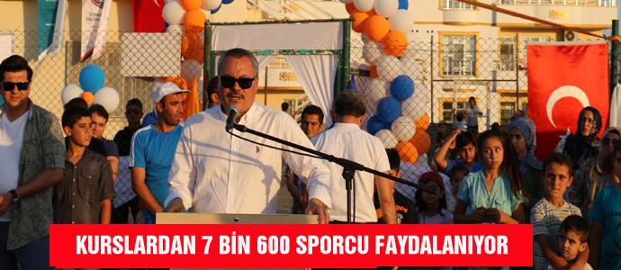 KURSLARDAN 7 BİN 600 SPORCU FAYDALANIYOR
