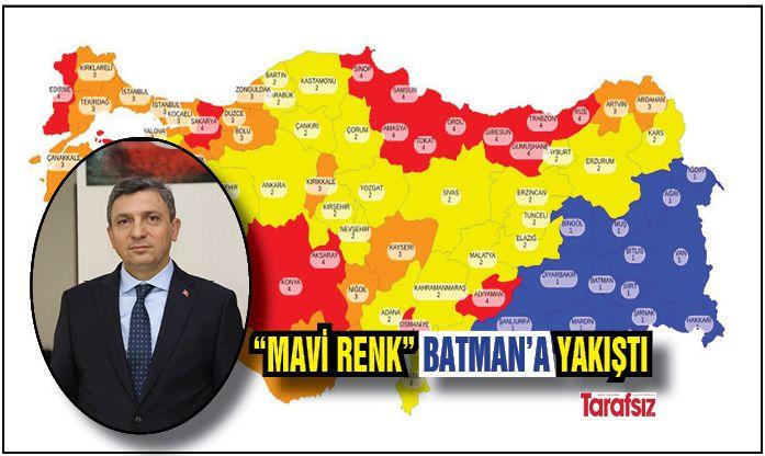 """""""MAVİ RENK"""" BATMAN'A YAKIŞTI"""