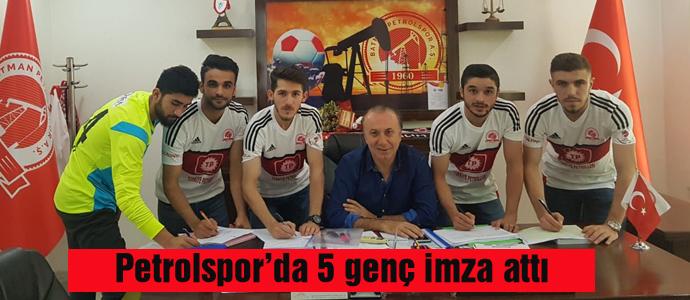 Petrolspor'da 5 genç imza attı