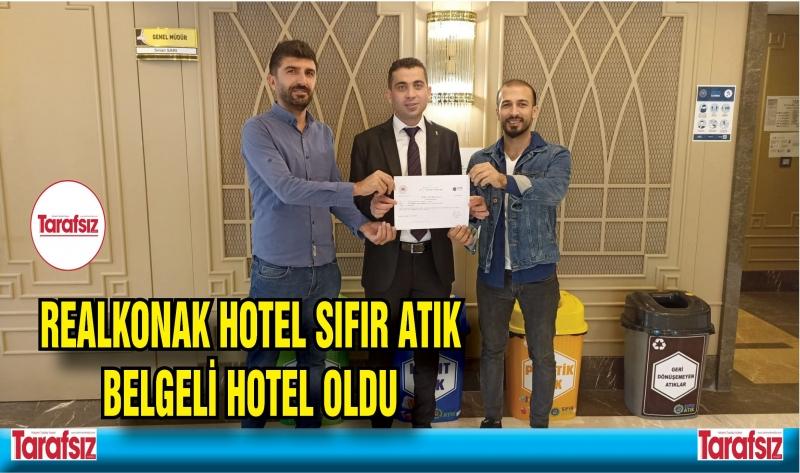 REALKONAK HOTEL SIFIR ATIK BELGELİ HOTEL OLDU
