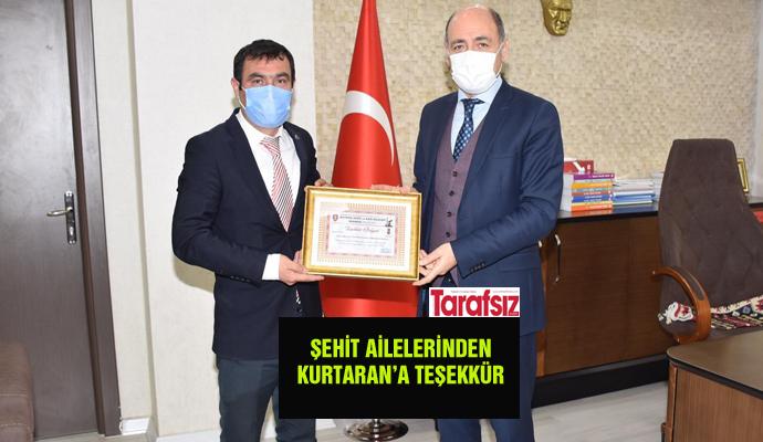 ŞEHİT AİLELERİNDEN KURTARAN'A TEŞEKKÜR