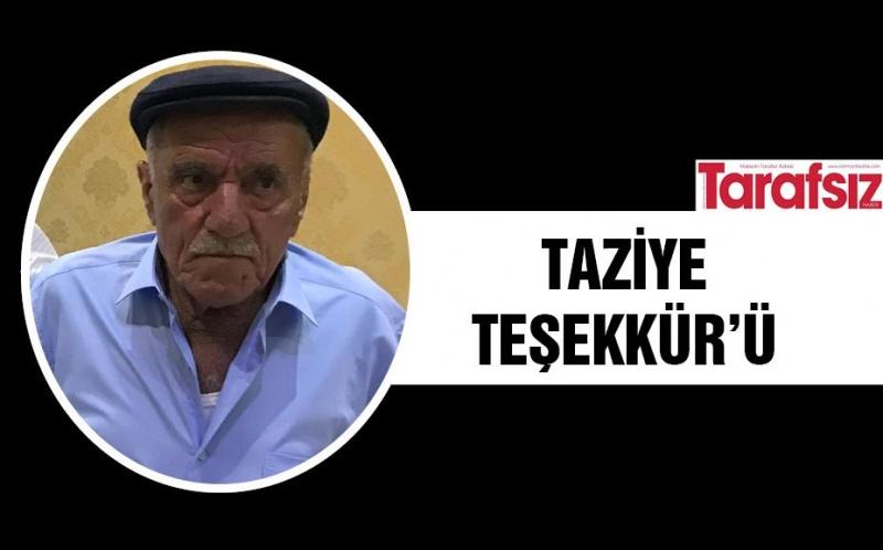 TAZİYE TEŞEKKÜR'Ü