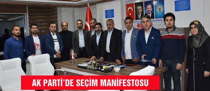 AK PARTİ'DE SEÇİM MANİFESTOSU