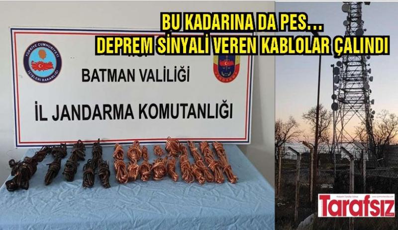 DEPREM SİNYALİ VEREN KABLOLAR ÇALINDI