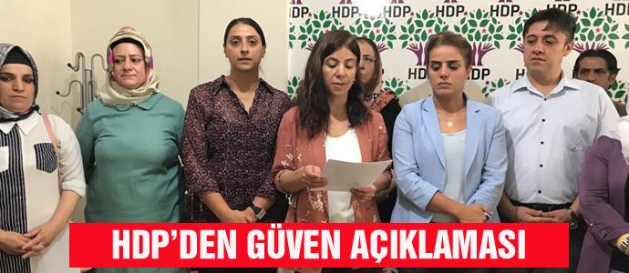 HDP'DEN GÜVEN AÇIKLAMASI