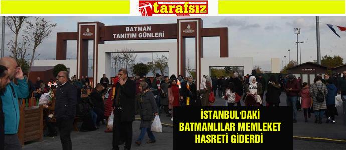 İSTANBUL'DAKİ BATMANLILAR MEMLEKET HASRETİ GİDERDİ