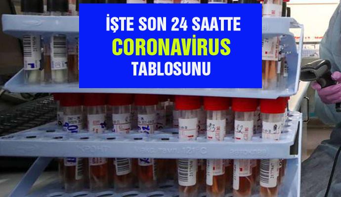 İŞTE SON 24 SAATTE CORONAVİRUS  TABLOSUNU