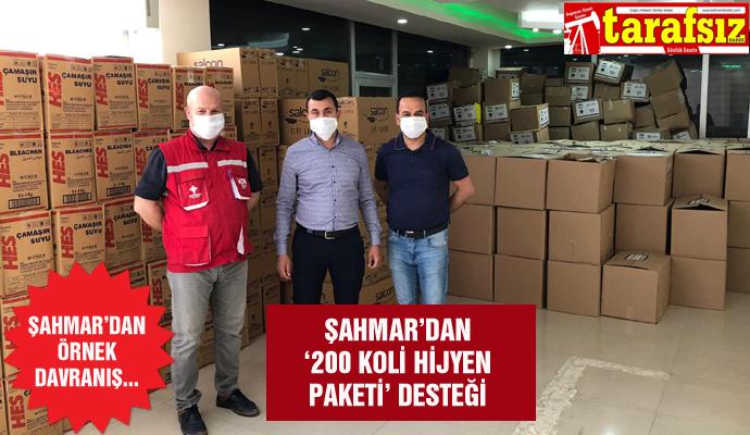 ŞAHMAR'DAN '200 KOLİ HİJYEN PAKETİ' DESTEĞİ