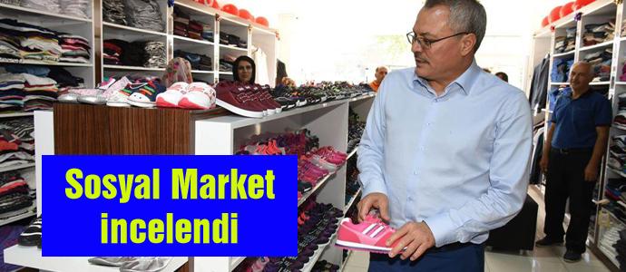 Sosyal Market incelendi