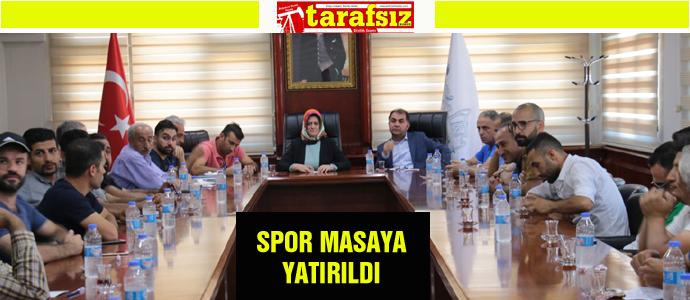SPOR MASAYA YATIRILDI