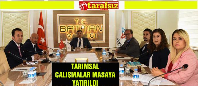 TARIMSAL ÇALIŞMALAR MASAYA YATIRILDI
