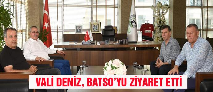VALİ DENİZ, BATSO'YU ZİYARET ETTİ