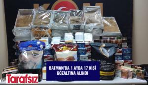 Batman'da 1 ayda 17 kişi gözaltına alındı