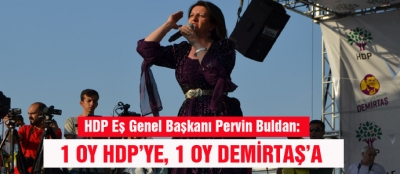 1 OY HDP'YE, 1 OY DEMİRTAŞ'A