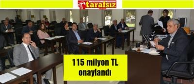 115 milyon TL onaylandı