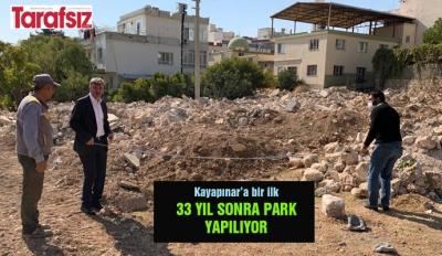 33 YIL SONRA PARK YAPILIYOR