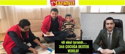 345 ÇOCUĞA DESTEK VERİLDİ