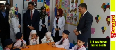 4-6 yaş Kur'an kursu açıldı