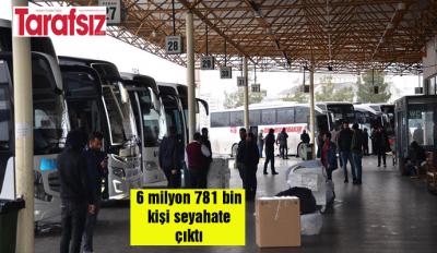 6 milyon 781 bin kişi seyahate çıktı