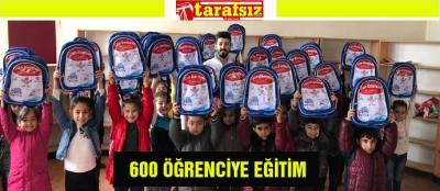 600 ÖĞRENCİYE EĞİTİM