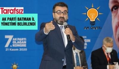 AK PARTİ BATMAN İL YÖNETİMİ BELİRLENDİ
