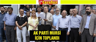 AK PARTİ MURSİ İÇİN TOPLANDI