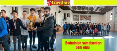 Badminton şampiyonları belli oldu