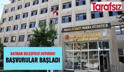 BATMAN BELEDİYESİ DUYURDU!