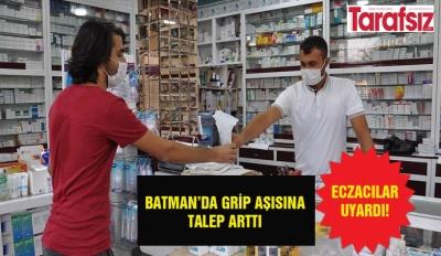 BATMAN'DA GRİP AŞISINA TALEP ARTTI