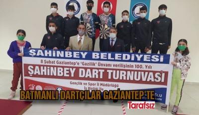 Batmanlı Dartçılar Gaziantep'te