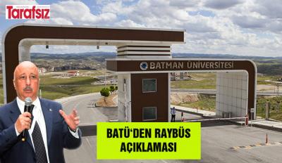 BATÜ'DEN RAYBÜS AÇIKLAMASI