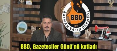 BBD, Gazeteciler Günü'nü kutladı