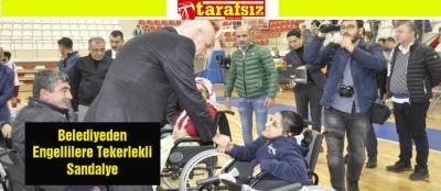 Belediyeden Engellilere Tekerlekli Sandalye