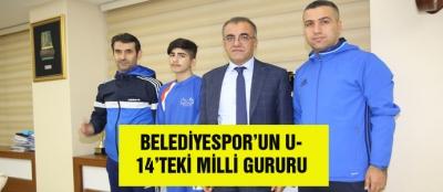 BELEDİYESPOR'UN U-14'TEKİ MİLLİ GURURU