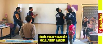 BİRLİK VAKFI'NDAN KÖY OKULLARINA YARDIM
