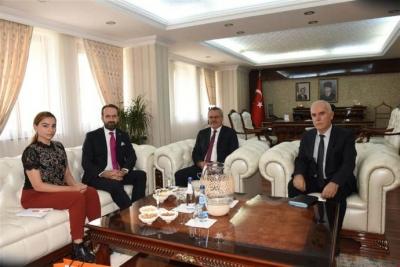 Büyükelçi Maslahatgüzarı Vali Deniz'i ziyaret etti
