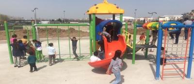 Çocukların park sevinci
