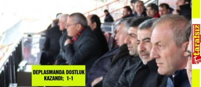 DEPLASMANDA DOSTLUK KAZANDI;  1-1