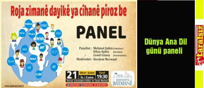 Dünya Ana Dil günü paneli