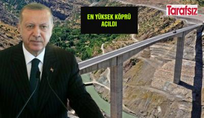 En yüksek köprü açıldı