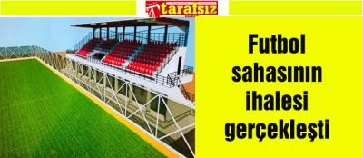 Futbol sahasının ihalesi gerçekleşti